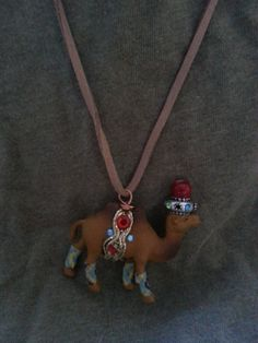 Circus Camel on Suede Necklace by SilverPennyArtisans on Etsy, $15.00