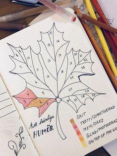 Bullet journal November mood tracker, Swedish