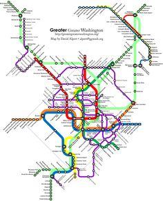 Fantasy DC Transit Map