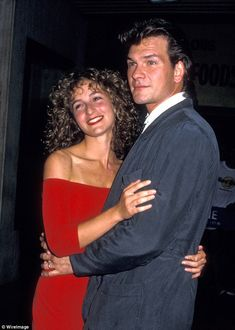 Patrick Swayze and Jennifer Grey 1987 - Dirty Dancing premiere Dirty Dancing, Jerry Orbach, Rita Moreno, Dance Movies, Dancing With The Stars, Famous Faces, Hollywood Stars, Actors & Actresses, Celebs