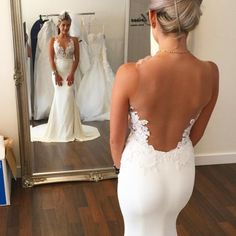 Cheap mermaid wedding gowns, Buy Quality wedding gowns directly from China wedding gown with train Suppliers: Boho Wedding Dresses Sexy Sheer Vestidos De Noiva Cheap Bridal Dresses Casamento Sleeveless Mermaid Wedding Gowns With Train Dream Wedding Dresses, Bridal Dresses, Wedding Gowns, Ivory Wedding, Party Dresses, Bridesmaid Dresses, Dresses 2016, Long Dresses, Dresses Dresses