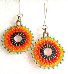 Pretty fresh sunny seed bead hoop earrings by westhillstudiojewel, $23.60