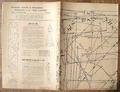 vintage French Mode Illustree magazine SEWING PATTERNS sheet 1930s (30s) (E) | eBay