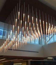 Neidhardt - Custom project; Kaiser Permanente Lounge Lighting, Lighting Design, New York Loft, Loft Furniture, All Of The Lights, Custom Lighting, Modern Interior Design, Ceiling Lamp, Light Decorations