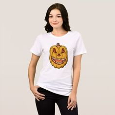 #Creepy Halloween Pumpkin T-Shirt - #Halloween happy halloween #festival #party #holiday
