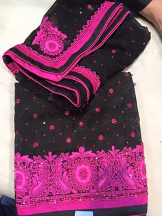 BLACK & HOT PINK SUIT SHRUTI SUITS  http://www.fashiongaloreoutlet.co.uk/shruti-suits-5/black-hot-pink-suit.html