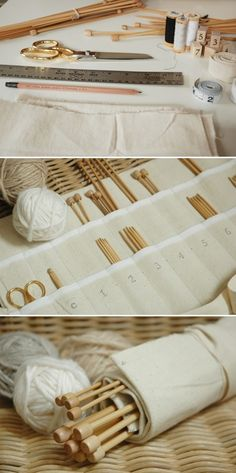 DIY: knitting needle case