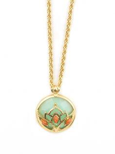 Jade Lotus Pendant   amyojewelry.com