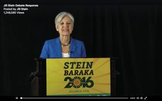 Jill Stein, The Green Party, 2016 Presidential Candidate.