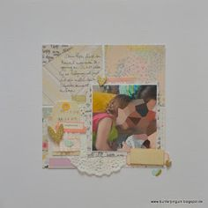 Bunterpinguin: Scrapbooklayout mit Crate Paper Notes & Things