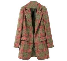 Oasap  78% OFF Abrigo Plaid Coat