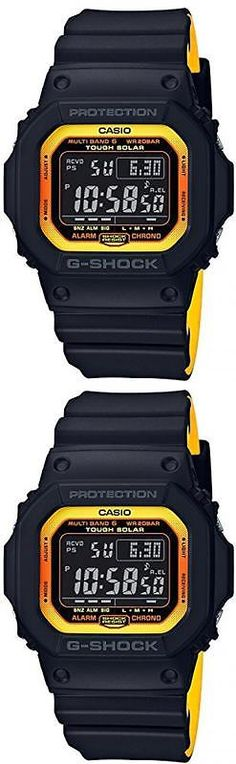 Other Jewelry and Watches 98863: Casio G-Shock Black×Yellow Multi Band 6 Solar Gw-M5610by-1Jf F S -> BUY IT NOW ONLY: $264.5 on eBay!