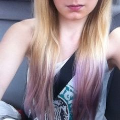 A lavender-blonde dip dye is ideal for summer. | 35 Low-Key Ways To Add Color To Your Hair