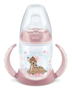 Nuk Beach First Choice Trinklernflasche Orange Silikon-Trinkt/ülle 6-18 Monate 150 ml