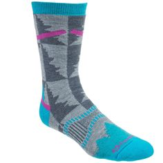 Fox River Mills Women's Grey 2535 07030 USA-Made Wool Blend Crew Socks