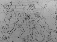 Sandro Botticelli drawing from Dante's Inferno