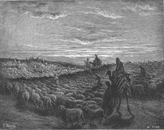 Abraham, Bible illustrated by Gustave Doré, 19th century.