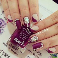 Eye Make Up, Love Nails, Nail Arts, Nails Inspiration, Hair And Nails, Nail Art Designs, Acrylic Nails, Finger, Manicure
