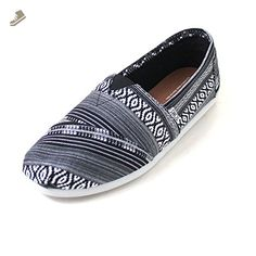 Toms Classics Black/White Linear Cultural Woven 10008357 Mens 14 - Toms sneakers for women ( Amazon Partner-Link) Cheap Toms Shoes, Toms Shoes Outlet, Black Suede Loafers, Penny Loafers, Loafers Outfit, Loafer Shoes, Toms Outfits, Toms Sneakers, Crocs Men
