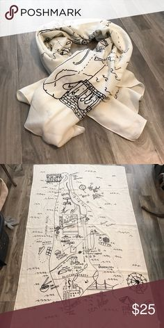 Madewell graphic scarf Fun Madewell graphic scarf of NYC! Madewell Accessories Scarves & Wraps
