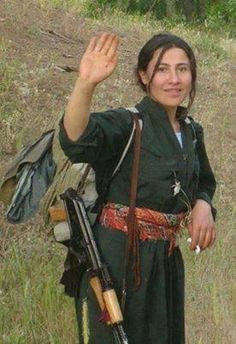 Kurdish women defended the rights of the Kurdish people side by side men. Proudly NOTE Muslims fear this women because if Muslim men are killed in battle by a woman then they will not go to Muslim Heaven and have those 72 virgins. ;-))) You go girls. !!