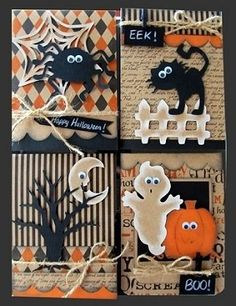 (Pin#1: Halloween:  Spiders. Pin+: Halloween: Scene; Halloween: Ghosts; Halloween: Witches/ Cats).