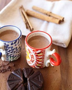 This chocolate atole is made with Mexican chocolate, milk, and masa for thickening. It's thicker than most hot chocolates and is served to warm the souls that have made the journey home. Recipe here.