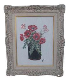 Antique White Paints, Shabby Chic Art, Black Vase, Painting Frames, Vintage Decor, Still Life, Carving, Display, Antiques