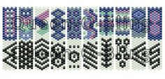 This is an odd count peyote stitch pattern made with Miyuki Delicas size 11 beads This pattern will allow you to make carrier bead beaded strips that are reversible. Colors: 7 You are buying a PATTERN in PDF format. After payment confirmation is received, you will be able to directly