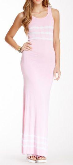 American Twist Tie Dye Print Maxi Dress