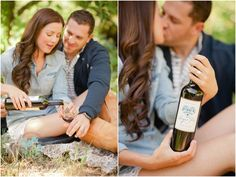 Apple Orchard picnic engagement photos