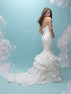 Allure 9456 | Available at Ava's Bridal Couture! Call 817-732-4457 or Book Online: http://avasbridalcouture.com/
