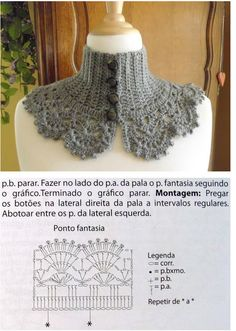 Crochet neckwarmer, cape, capelet, patterns with diagram