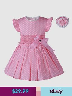 Diy Crafts - Fashion-Find great deals for Girl Kids Polka Dot Dress and Headband Set Pleated Summer Princess Party Wedding. Shop with confidence on eB Girls Summer Outfits, Dresses Kids Girl, Kids Outfits, Toddler Dress, Baby Dress, Dot Dress, Little Girl Fashion, Kids Fashion, Fashion Outfits