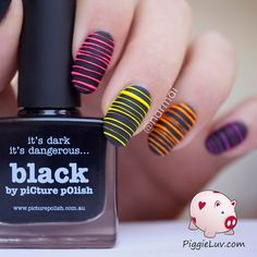 PiggieLuv: Glow in the dark sugar spun nail art + video tutorial