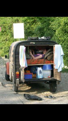 Camper Caravan, Campers, First Car, Car Travel, Long Distance, Tiny House, Citroen 3cv, Van, Camper Van