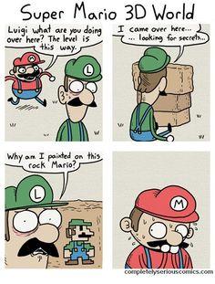Secret Luigi for U - Video Game Memes Video Game Memes, Video Games Funny, Funny Games, Nintendo Game, Nintendo Characters, Mario Comics, Super Mario And Luigi, Mario Memes, Cartoon Crossovers