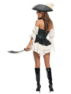 Check out Sexy Black Pearl Pirate Costume - Sexy Pirate Halloween Costumes from Costume Super Center Pirate Costume Couple, Sexy Pirate Costume, Pirate Dress, Sexy Adult Costumes, Pirate Halloween Costumes, Sexy Costumes For Women, Cute Costumes, Halloween Fancy Dress, Halloween Outfits