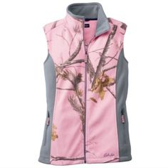 Cabelas Pink Camo Realtree Fleece Vest.  Large Fleece Vest exactly as you see. Cabelas Tops