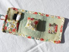 i want to make a small little something like this for my new project bag, sewing kit, zakka type