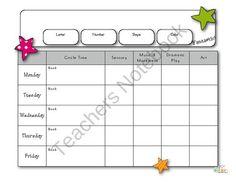 Printable Lesson Plan Pack from edlah.com