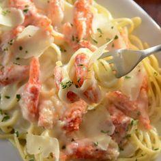 Crab Linguini Alfredo.