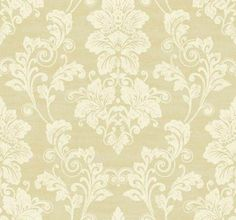 Elegant Cream and Gold Victorian Damask Wallpaper Double Roll Bolts | eBay