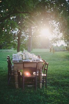 A beautiful setting for a summer dinner party.