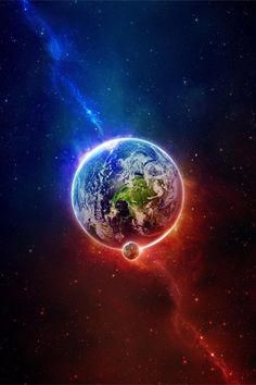 Earth in Blue and Red