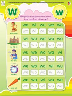 Aku Pintar Membaca dan Menulis Huruf a Kindergarten Reading Activities, Kindergarten Readiness, Kindergarten Worksheets, Preschool Activities, Preschool Printables, Learning Letters, Teaching Materials, Kids Reading, Worksheets For Kids