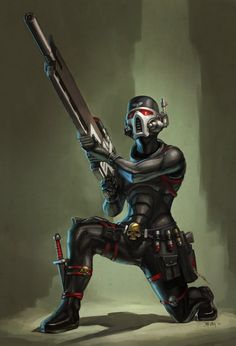 cheekimebreeki: WH40K: Assassin by StuartHughe