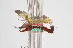 Tapestry weave with found objects, beach combing  alice fox | stitch print weave