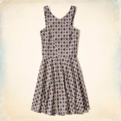 Knit Skater Dress: Supersoft and drapey knit with a high neck and swingy skater skirt.