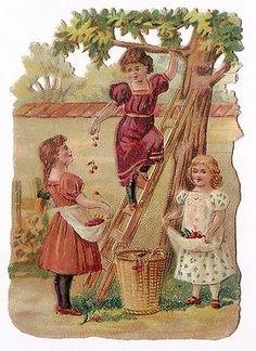 Glanzbilder - Victorian Die Cut - Victorian Scrap - Tube Victorienne - Glansbilleder - Plaatjes : Jan. 2015 - Mädchen